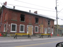 After the fire, August 2009